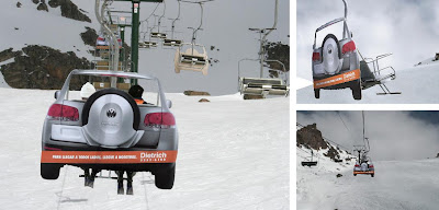 Volkswagen Touareg Ski Lift Advertisement
