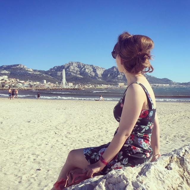Marseille sandy beach