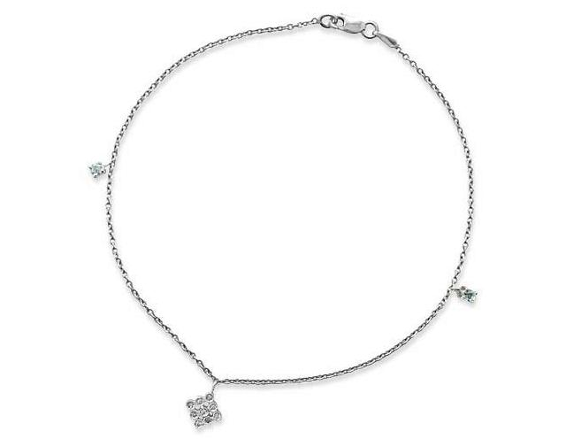 White Gold Diamond Anklets