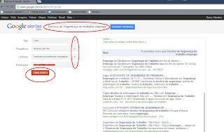 Utilizando o Google Alerta para conseguir um emprego