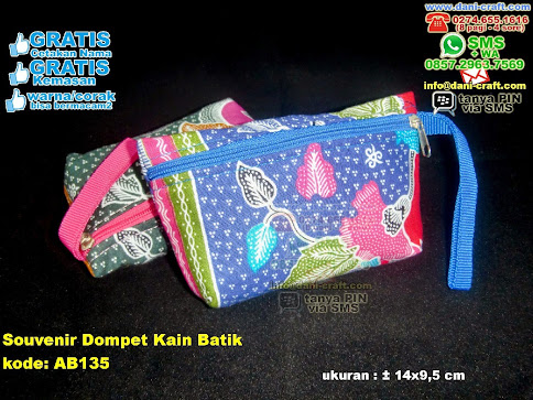 Souvenir Dompet Kain Batik