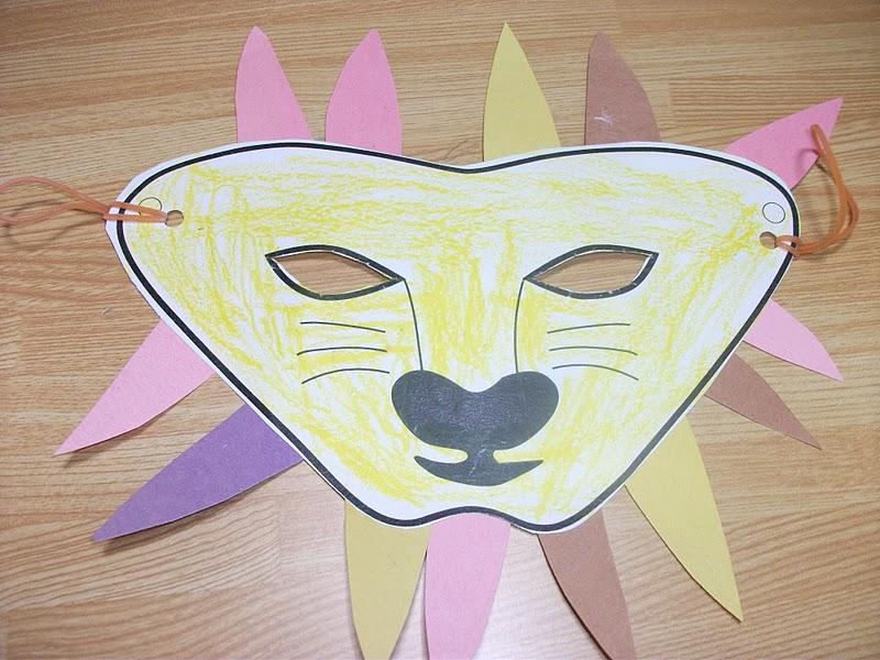 Lion mask paper craft preschool crafts for kids for Mask craft for kids