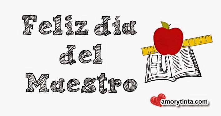 imagen del dia del maestro con manzana regla y libro