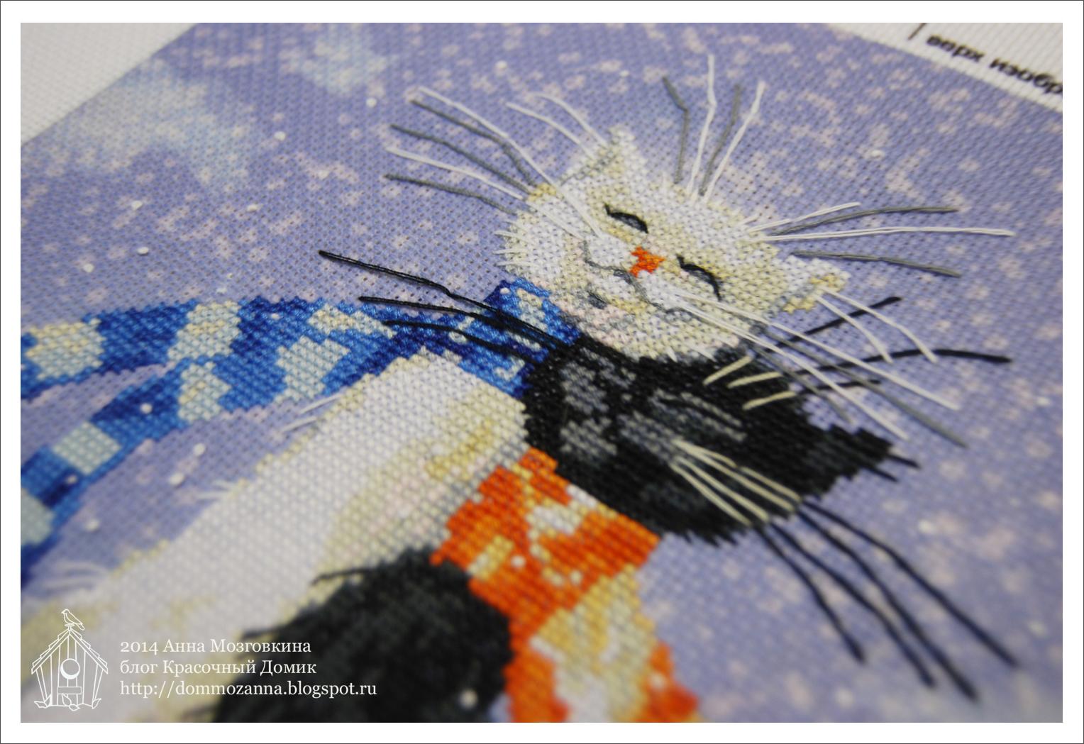 вышивка крестом кошки