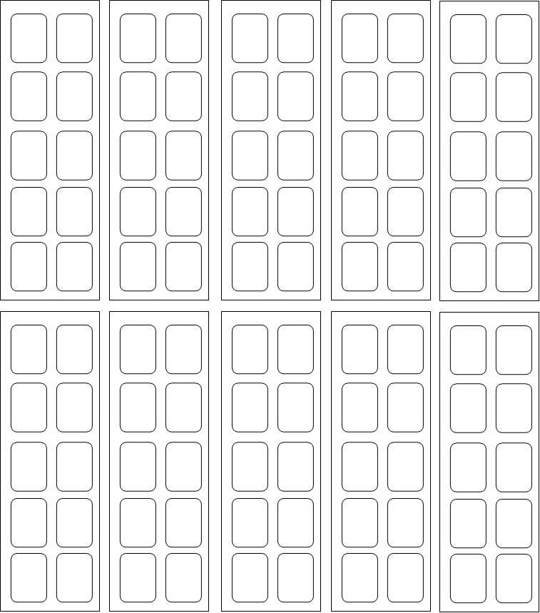 Moldes Imagens Para Adesivos de Unhas Impressos