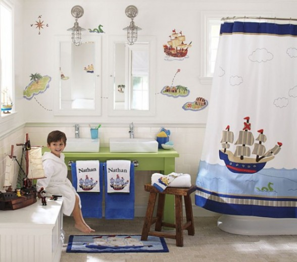Western home decorating 9 kids bathroom decor ideas cute - Kids bathroom design ...