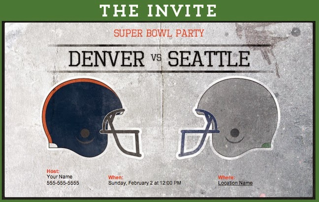 Super Bowl Party Invitations with best invitation ideas