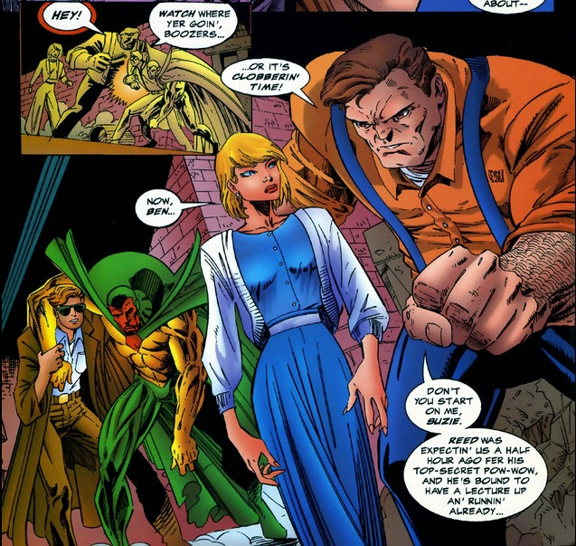 Avengers Timeslide Ben Grimm Susan Storm Matt Murdock