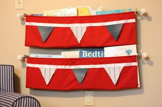 No Sew Hanging Bookshelf from I Can Teach my Child