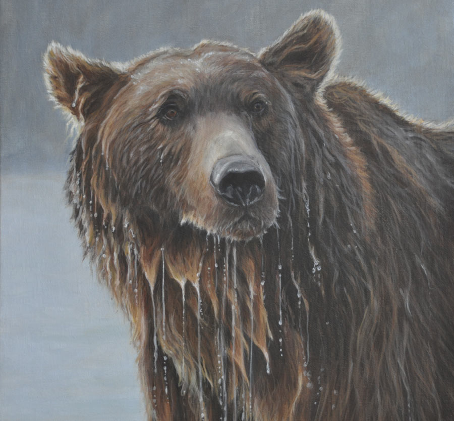 My Painted Life: Grizzly Bear Portrait