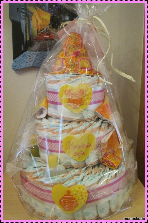tarta de pañales