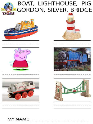 Free kids pages instructive preschool childrens handwriting worksheets Thomas the train activities