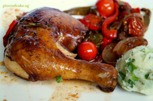 Piece of Cake: Balsamic Chicken with Roast Vegetables