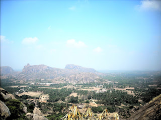 View from the nearly the top of Ramdevara betta at Ramanagaram