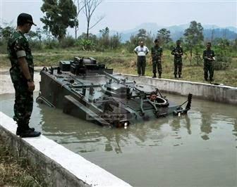 Foto Ujian Pertama Tank M-113 (Gavin) Alutsista Terbaru TNI