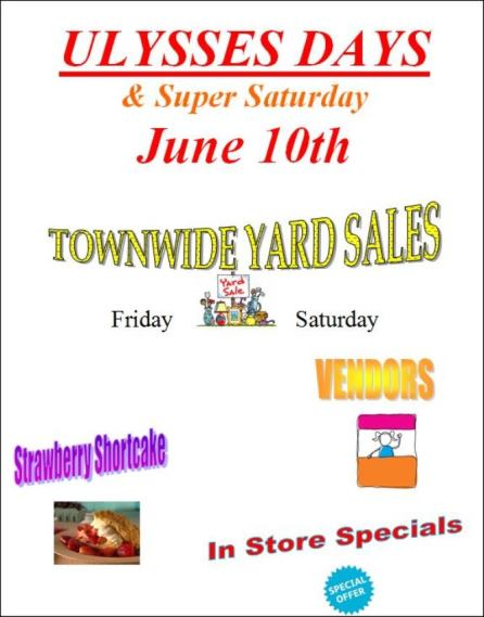 6-9/10 Ulysses Townwide Yard Sale