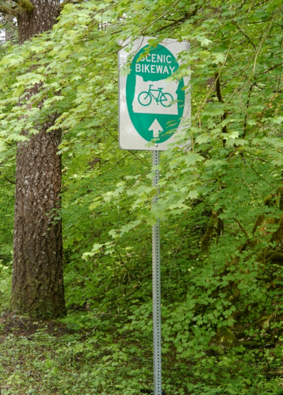 scenic bikeway sign