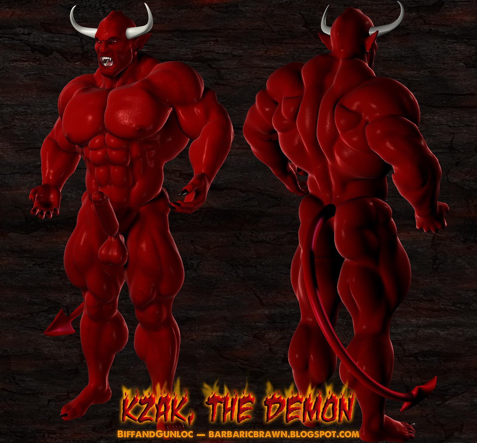 Muscular Barbarians 3D Art