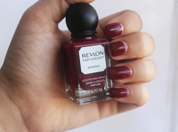 revlon parfumerie nail polish bordeaux swatch