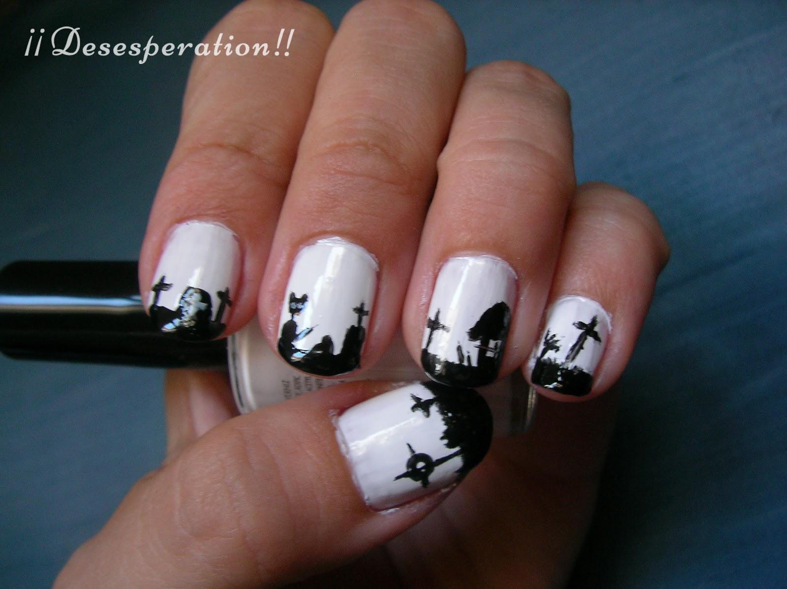 Desesperation!!: Diseño uñas - Cementerio Halloween