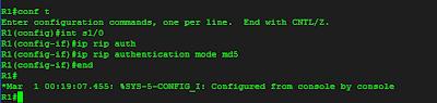 konfigurasi md5 pada R1