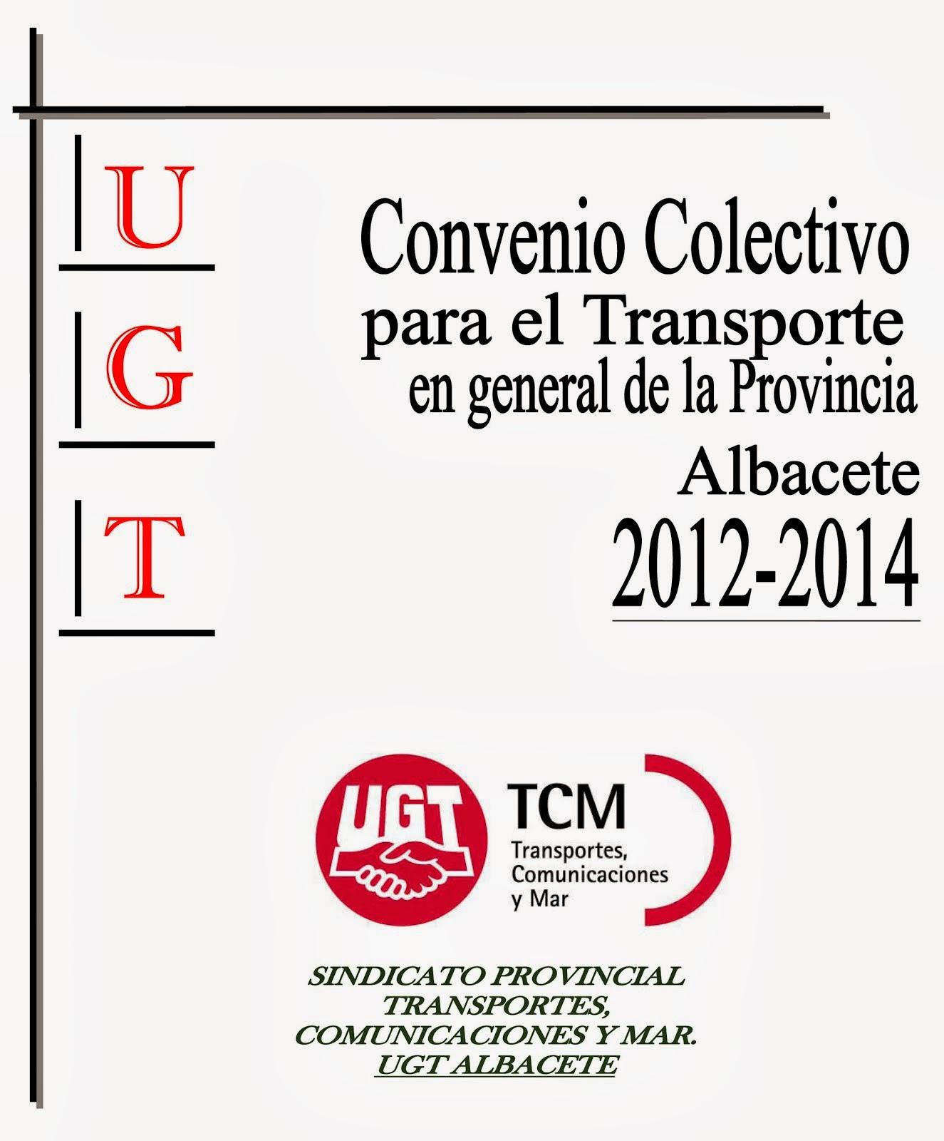 CONVENIO PROVINCIAL TRANSPORTES 2012-2014