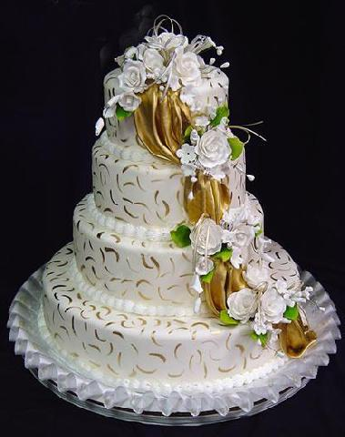 Elegantes tortas para una linda novia. Los colores de la torta deben