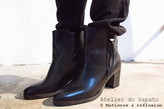 Soldes Bottines noires Atelier do Sapato