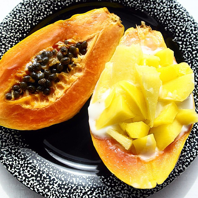 Papaya Breakfast Boats