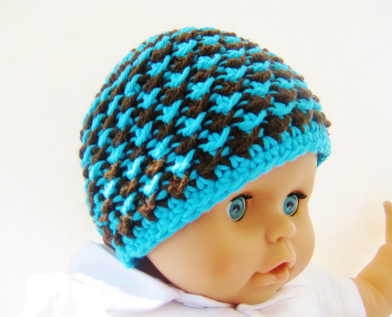 Crochet Baby Boy Visor Hat Pattern : Crochet Dreamz: Starry Night Beanie Hat Crochet Pattern ...