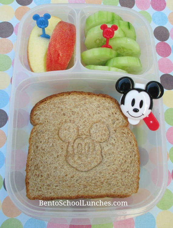 Mickey stamped sandwich bento lunch
