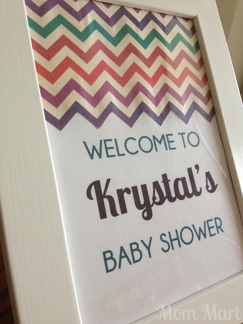 Modern Purple Baby Shower Table Sign
