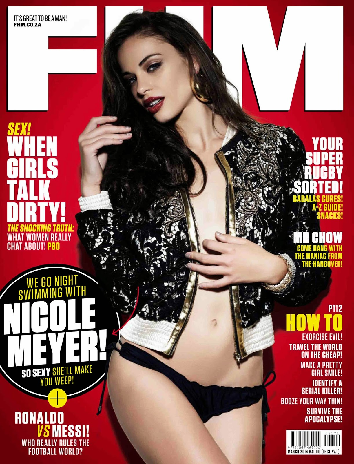 Nicole Meyer Photos from FHM South Africa Magazine Cover March 2014 HQ Scans