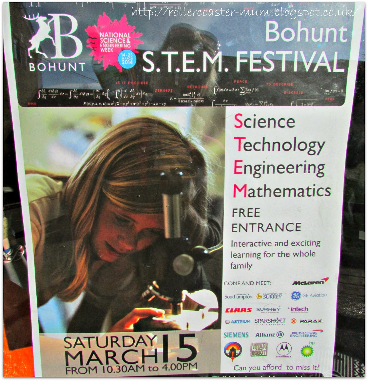 Bohunt STEM Festival for National Science Engineering Week 2014