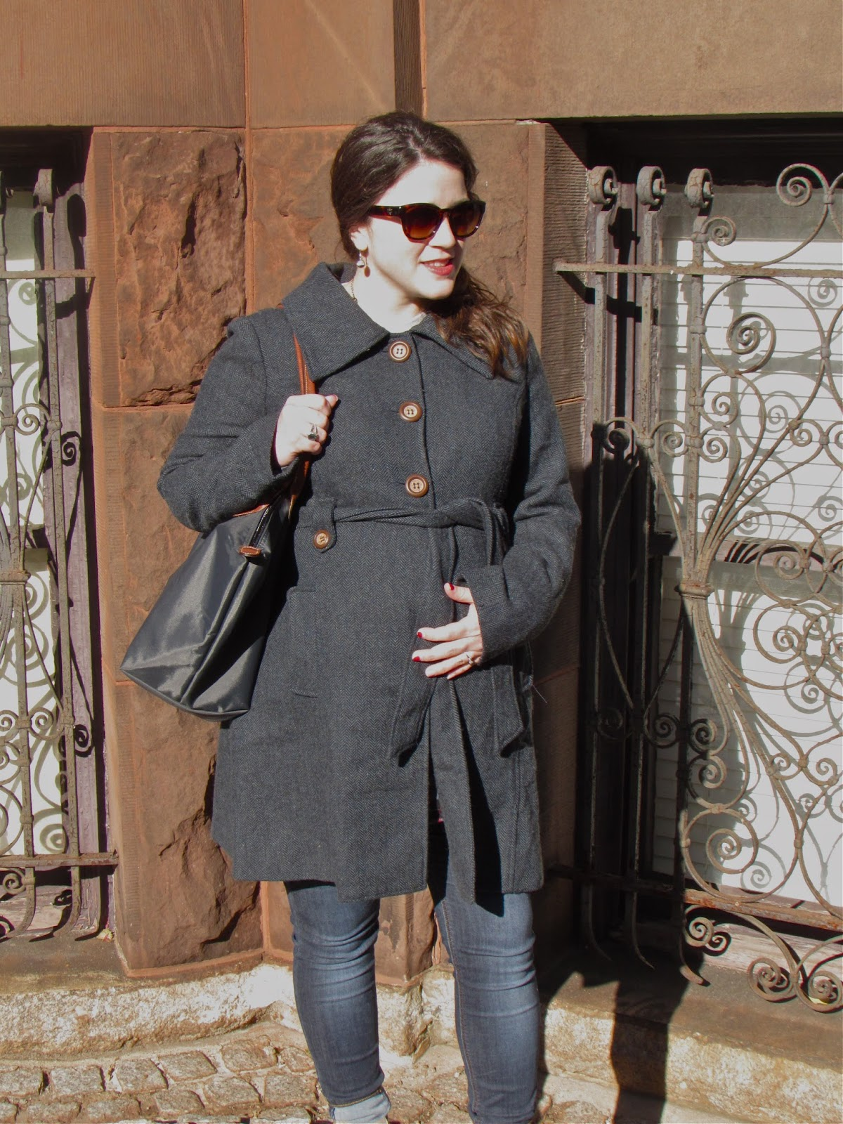 PinkBlush Maternity Pea Coat