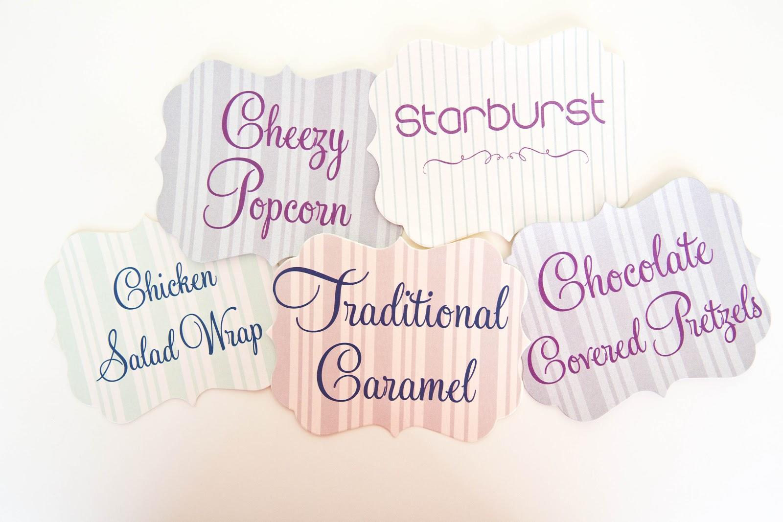 Candy Bar Wedding • Popcorn Bar Wedding - Kindly RSVP Designs
