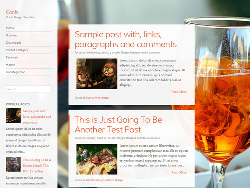 Confit free blogger template
