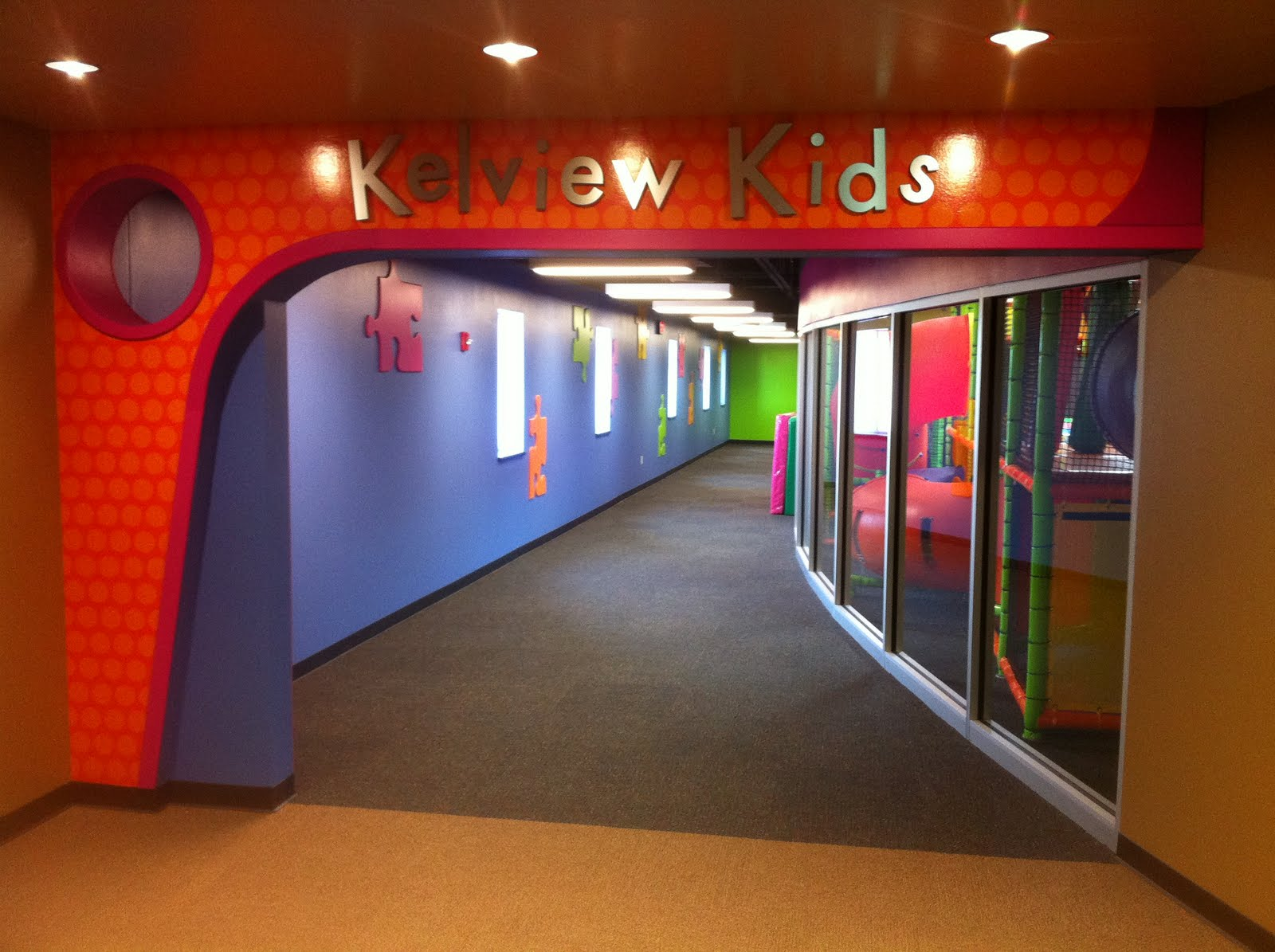 church indoor playground and creative themed kids area at kelview