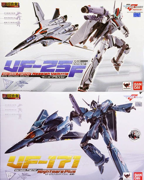 VF-25F Alto Saotome Custom Renewal Vers. e del VF-171 Nightmare Plus.
