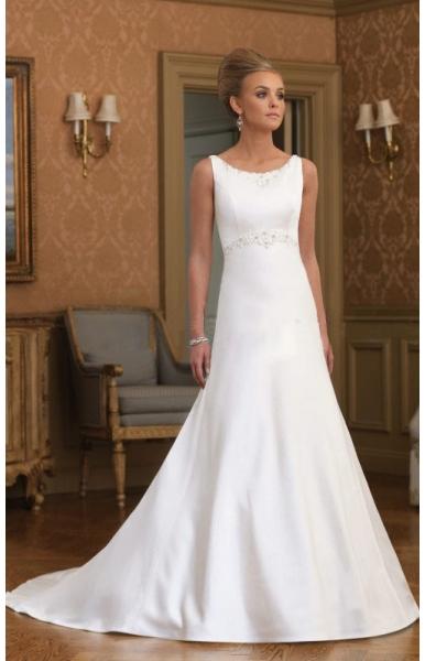 ... Kapelle Schleppe Satin Hochzeitskleider - Brautkleid und Brautmoden