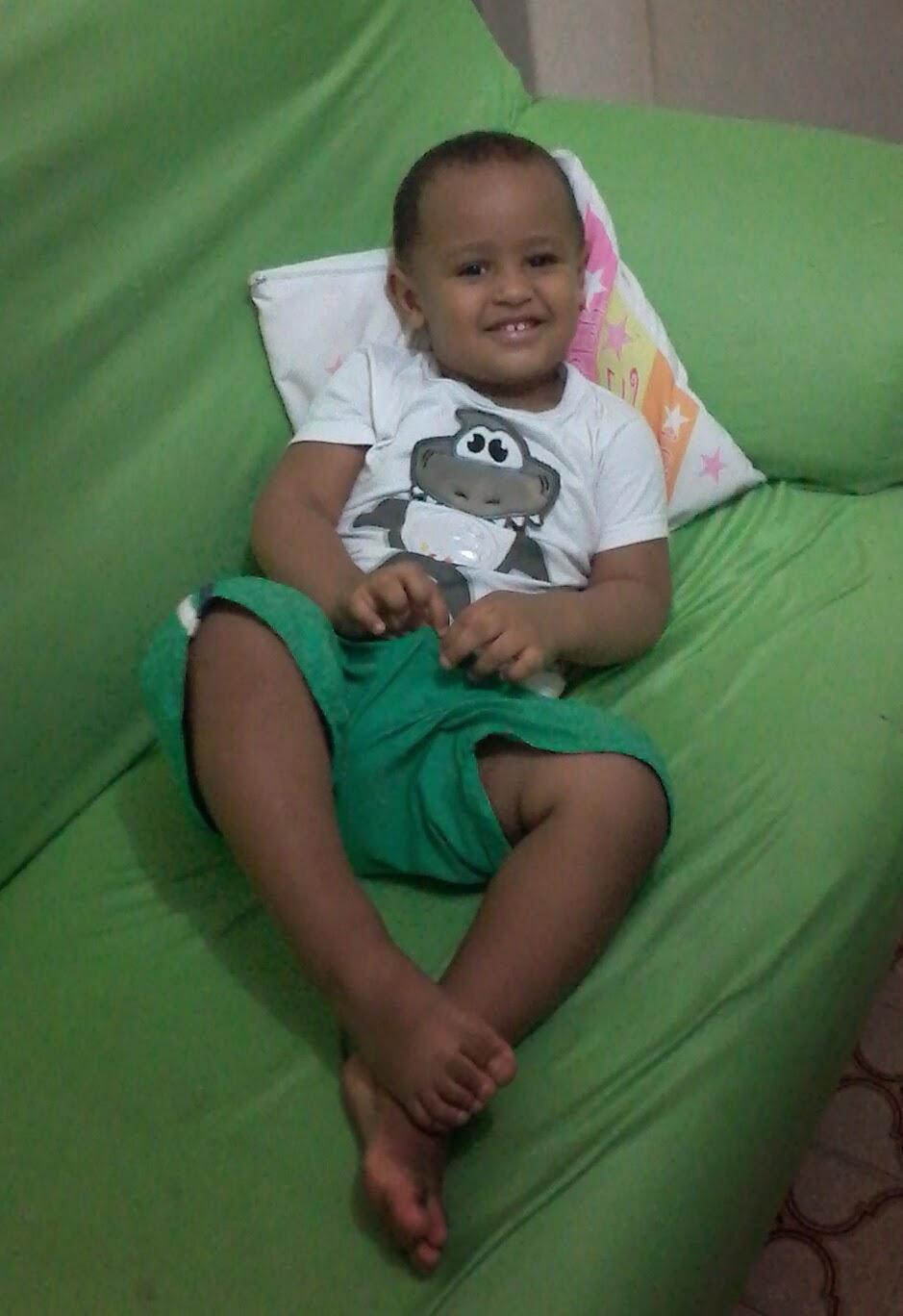 Meu príncipe com 2 anos...