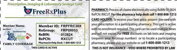 Free 50-75% off Prescriptions Nation Wide
