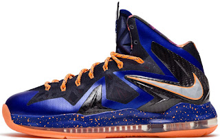 04/27/2013 Nike Air Max LeBron X Low 579765-800 Bright Citrus/Hyper Blue-Blackened Blue-White $165.00