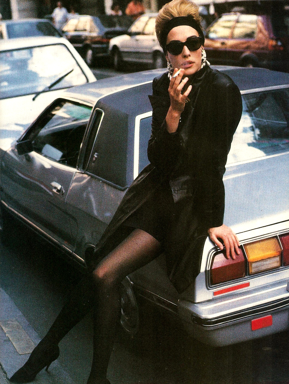 Tatjana Patitz in Vogue Italia October 1990 via www.fashionedbylove.co.uk