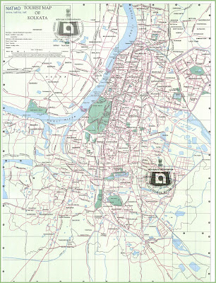 Map of Kolkata aka Calcutta