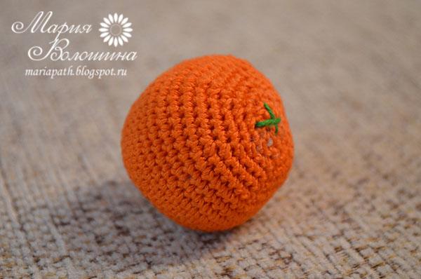 Чтобы шар стал похож апельсин,