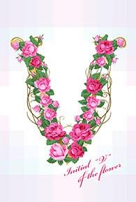 花のイニシャル「V」
