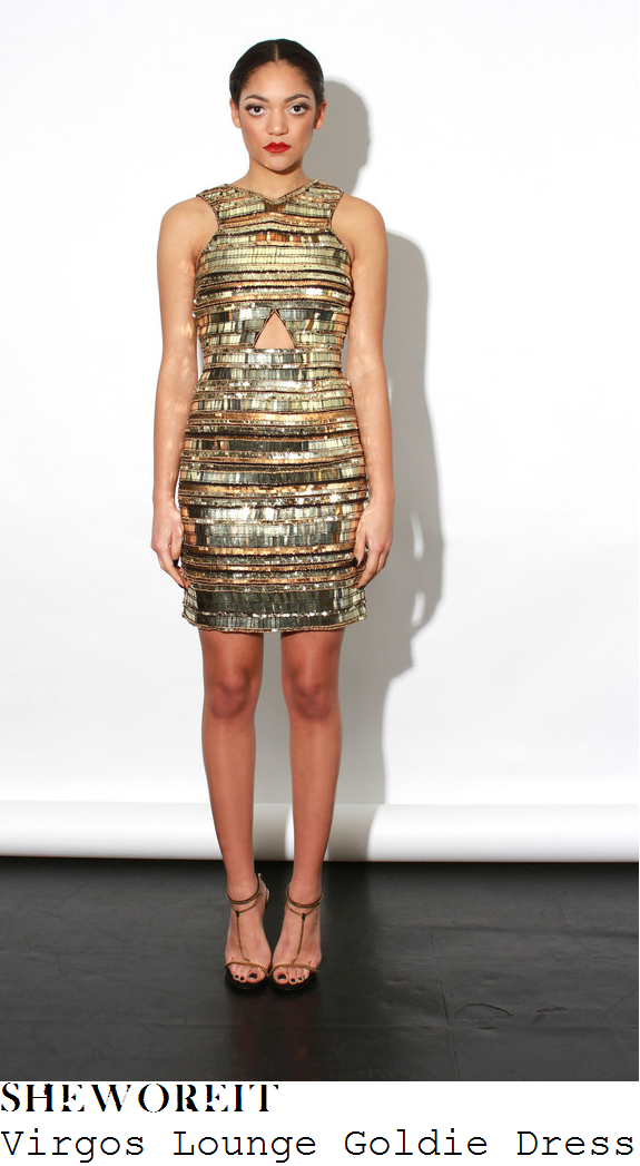 mollie-king-gold-embellished-sleeveless-cut-out-detail-mini-dress-strictly-come-dancing