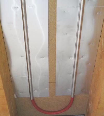 Pose plancher chauffant sous plancher combles ou mezzanine