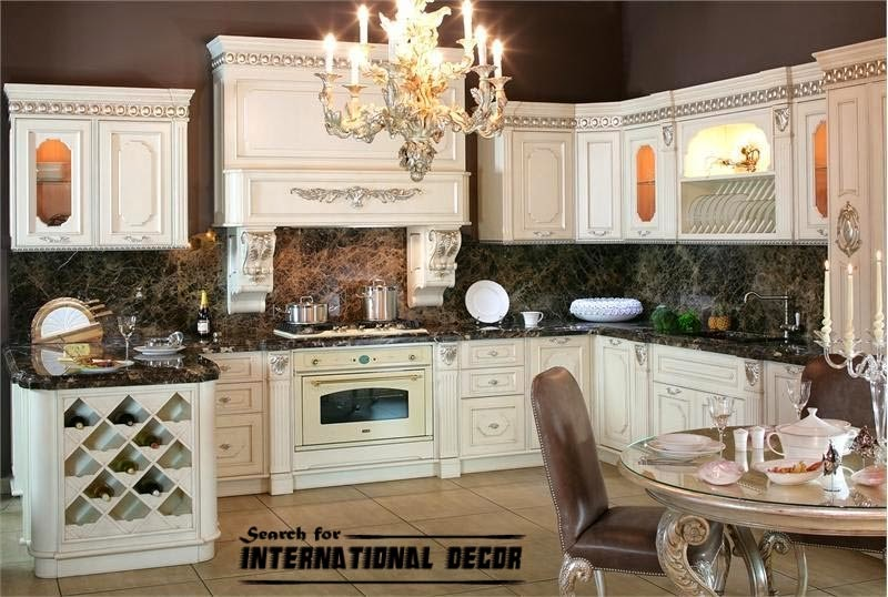 best designs of luxury kitchens in classic style interior inspiration. Black Bedroom Furniture Sets. Home Design Ideas